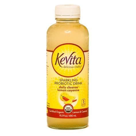 Cayenne Lemon Juice Detox by Kevita Organic Probiotic Lemon Cayenne Cleanse