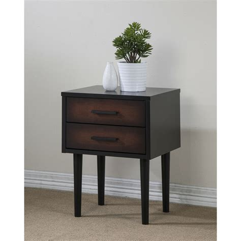 Nightstand Tables by Stand 2 Drawer Cherry Black Nightstand