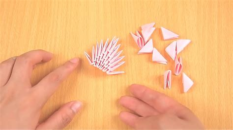 How To Make A Paper 3d - how to make 3d origami pieces with pictures wikihow