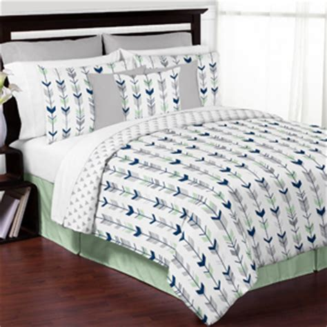 mint and grey bedding grey navy blue and mint woodland arrow 3pc full queen