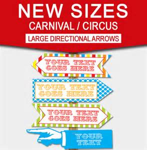 Carnival Sign Template by Diy Carnival Directional Sign Carnival Circus