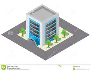 Design House Business Model isometric building royalty free stock images image 35847769