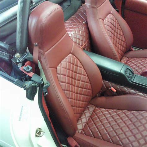 na miata leather seat covers nakamae quilted seat covers for miata mx 5 na rev9