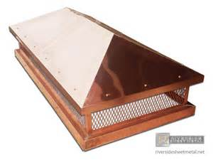 Copper Chimney Cover Pre Patina Copper Custom Chimney Cap With Pitched Roof Ch002