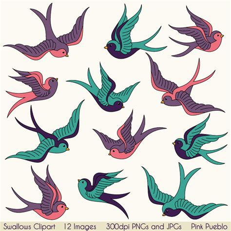 swallows clip art clipart birds clipart clip art vintage