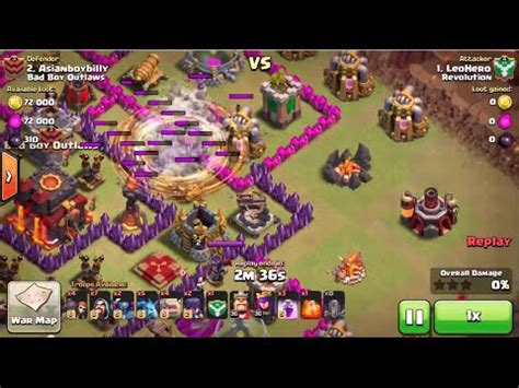 earthquake coc coc th10 3stars spell of earthquake strong youtube