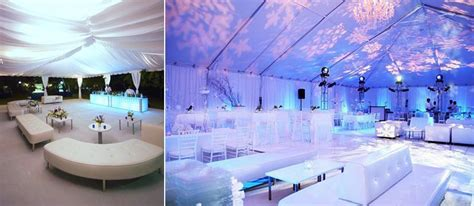 white furniture with blue and purple illuminating lights