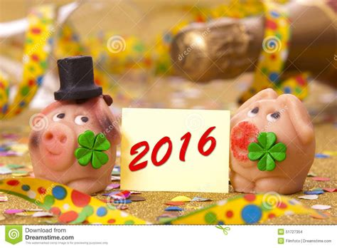 new year 2016 year of pig happy new year 2016 with pig as lucky charm stock photo