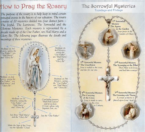 printable instructions on how to pray the rosary how to pray the rosary phlet