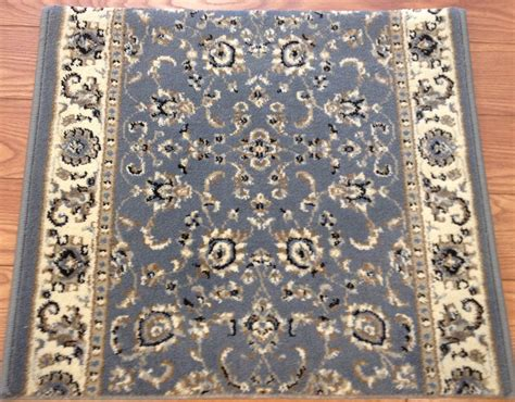 Blue Rug Runner by Alba 1426 Grey Blue Carpet Stair Runner