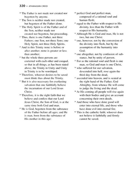 Lutheran Service Book 319. Athanasian Creed | Hymnary.org