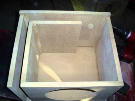 how to build a r 10 quot alpine type r custom ported sub box build