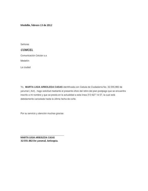 carta de cancelacion bodytech carta de retiro