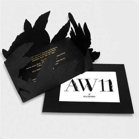 Fashion Week Invitation Cards mulberry coachella invite by thorne uk fashion