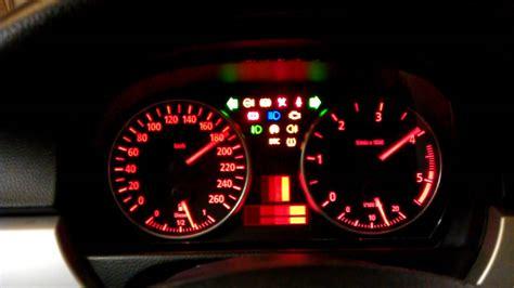 bmw dashboard lights bmw e90 e91 dashboard test