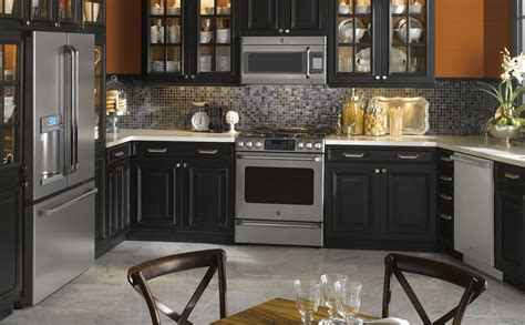 black appliances kitchen design quicua