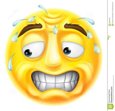 imagenes de emoji asustado emoji asustado del emoticon ilustraci 243 n del vector