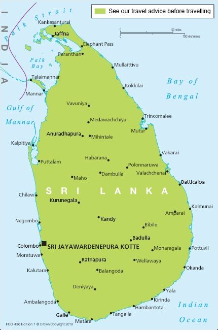 sri lanka travel advice govuk
