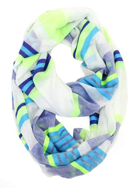 colored infinity of fashion multi colored striped infinity scarf