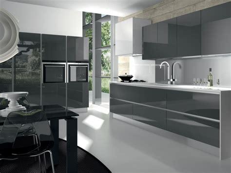 glacer en cuisine cuisine grise de design moderne 25 id 233 es de d 233 coration