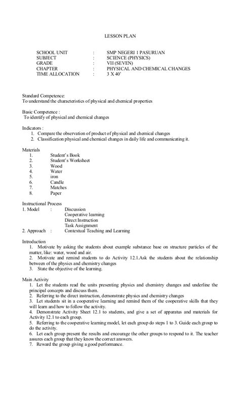 journal of chemical physics template 49085146 lesson plan science grade 7