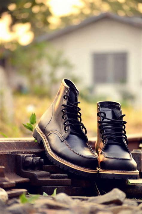 Sepatu Boots Kulit Suede Kualitas Style Pria Modern Lsby153 jual sepatu boots pria handmade bandung moc toe style