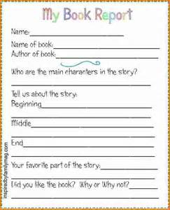 Simple Book Reports For Grade by 4 Book Report Template 2nd Grade Expense Report