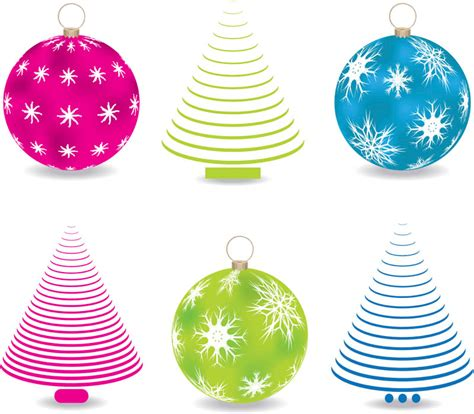 abstract christmas tree balls vector vector graphics blog