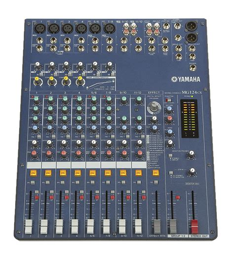 Li Mixer Yamaha Mg 124 Cx 12 Channel pro shop the sale of av dj lighting sound