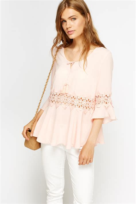 Insert Top peasant lace insert top just 163 5