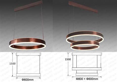 LED Ring Suspension Direct Indirect Lighting Pendant Light