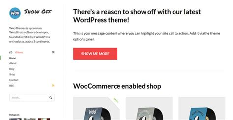show off woothemes wordpress template wordpress