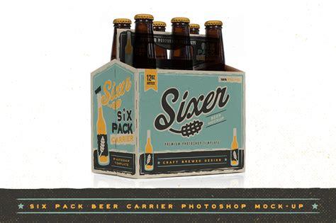 six pack beer bottle carrier mock up product mockups on