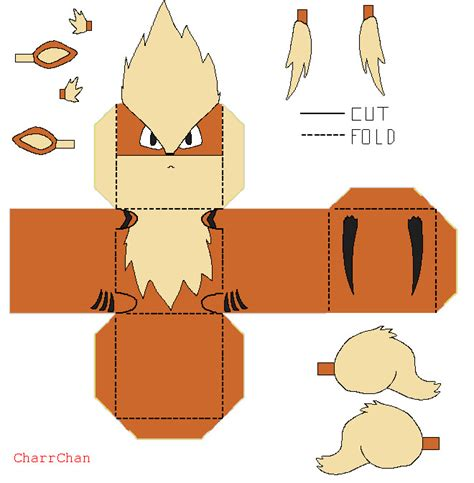 arcanine papercraft by charrchan deviantart on