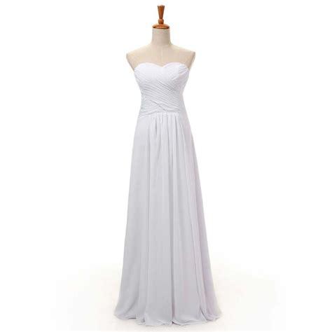 simple   long bridesmaid dresses sweetheart floor