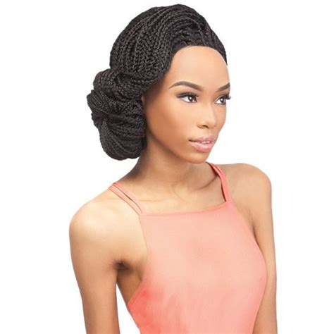 wigs to wear with braids outre x pression synthetic lace front wig box braid