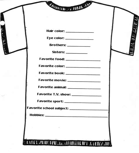 t shirt order form template free images