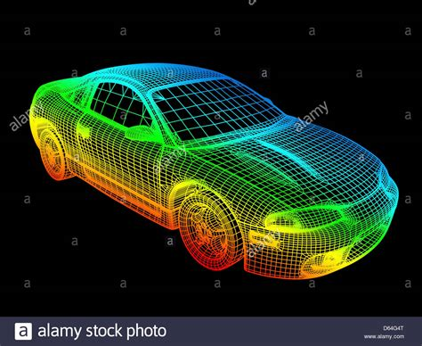 computer aided layout design computer aided design of a car stock photo royalty free