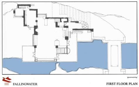 frank lloyd wright falling water floor plan fallingwater first floor plan www pixshark com images