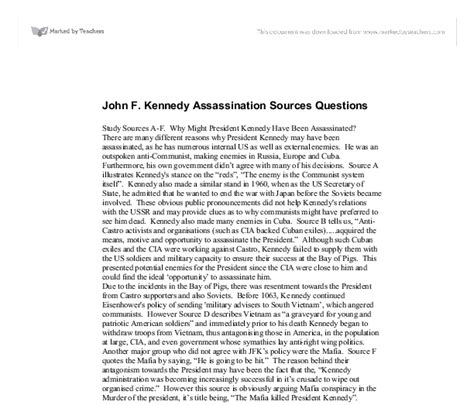 jfk assassination research paper college essays college application essays jfk