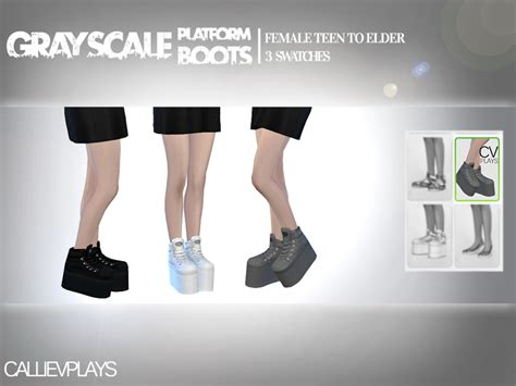 sims 4 platform heels callie v s grayscale platform ankle boots