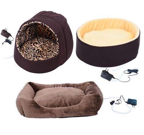 electric heated dog bed new electric heated pet bed dog cat puppy kitty heating nesting pads mats ebay