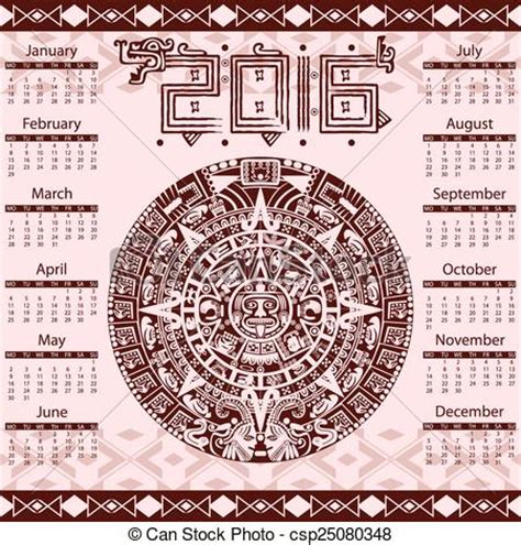 Calendario Actual 2016 Eps Vector De Calendario 2016 Azteca Vector