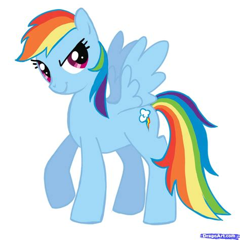 my pony mlp how to draw rainbow dash coloring europe
