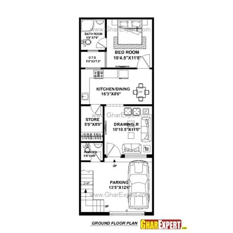 home design 50 sq ft wonderful house plan for 16 feet 54 feet plot plot size 96 square yards 15by 50 home nkasa image