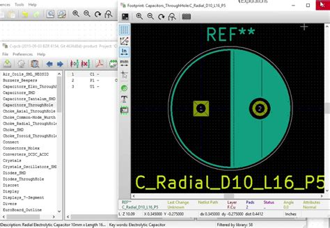 kicad electrolytic capacitor footprint add a capacitor to the schematic using eeschema kicad like a pro