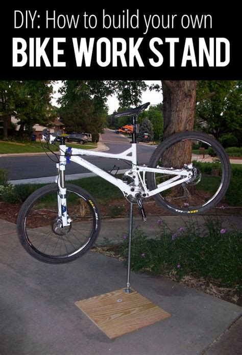 a frame bicycle event stand diy how to build your own bike work stand singletracks
