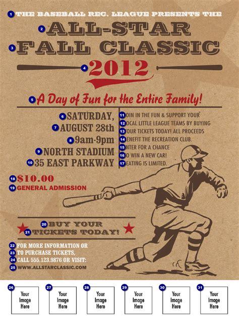 baseball fundraiser flyer template all retro baseball logo flyer ticketprinting