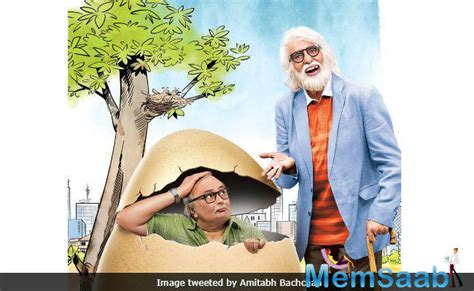 comedy film out now interesting poster of 102 not out big b and rishi