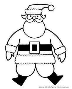 easy pre christmas coloring pages big jolly santa